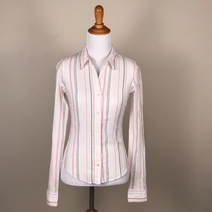 Abercrombie & Fitch Pink Stripe Button Down Shirt